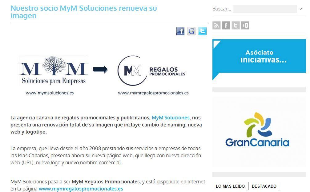 MyM Regalos Promocionales cambia de imagen