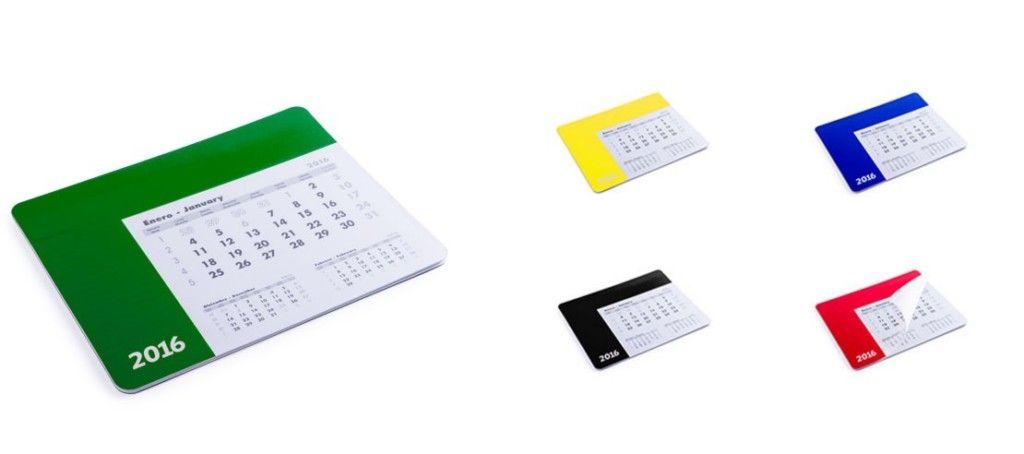 Alfombrillas de ratón personalizadas con calendario