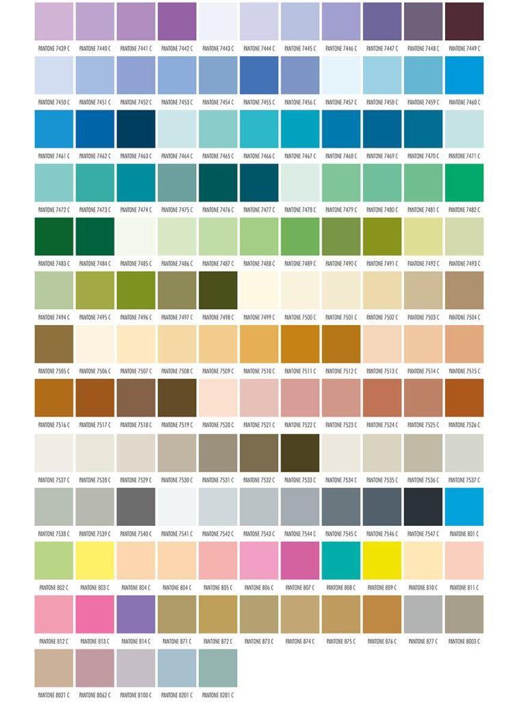 Guia de colores para marcajes