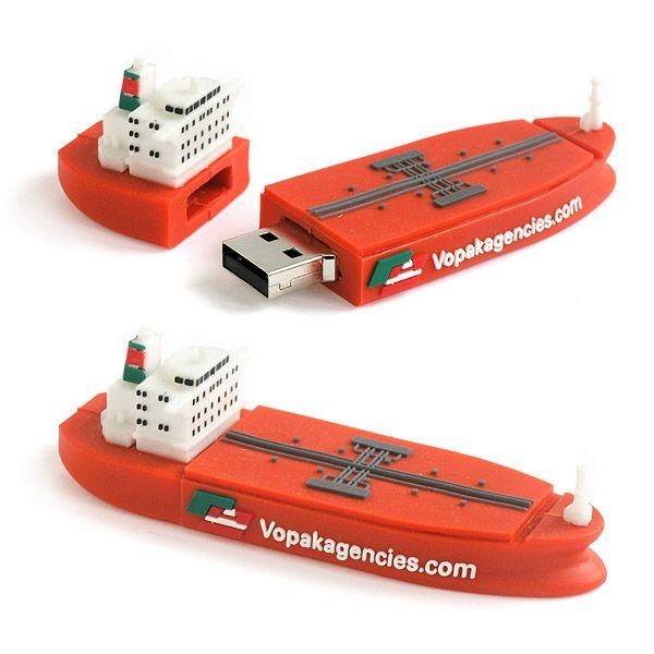 usb personalizado a medida forma barco