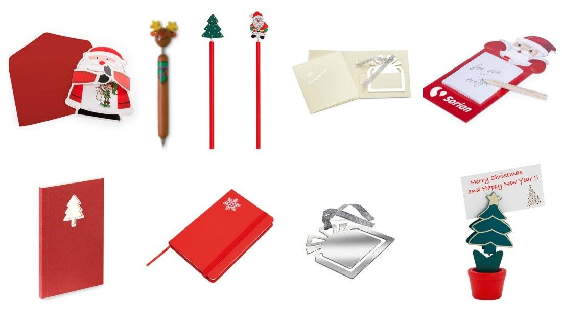 regalos promocionales escritura y oficina navidad