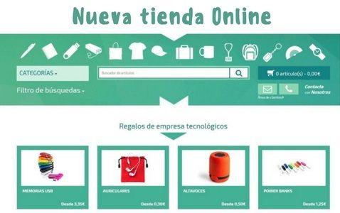 Nueva tienda online Regalos publicitarios