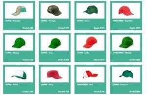 gorras publicitarias en la tienda online