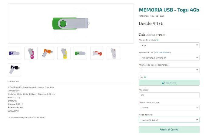 Memorias USB personalizadas togu