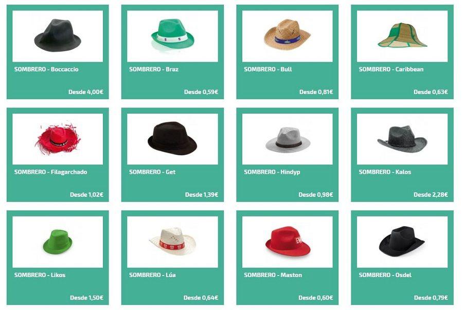 Sombreros personalizados para fiestas
