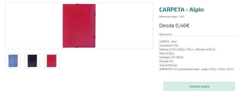 Carpetas personalizadas baratas