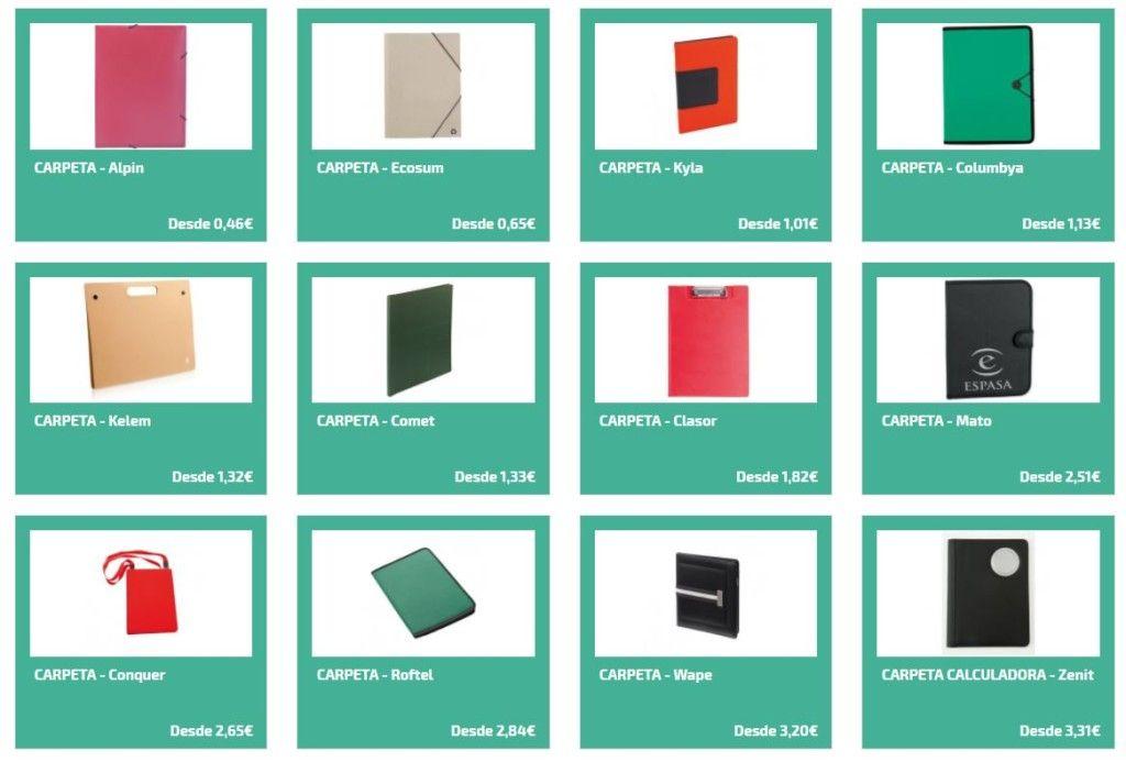 Carpetas personalizadas para regalos publicitarios