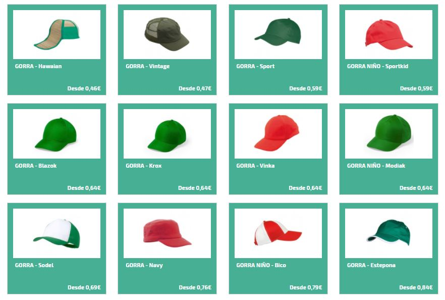 58bbebba60bb0 Gorras personalizadas para regalos de empresa - Gorras publicitarias