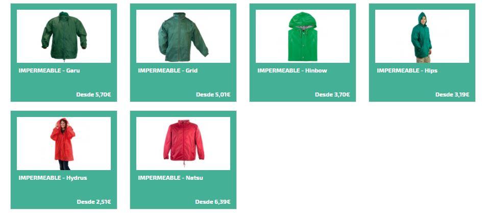 Impermeables personalizados para regalos promocionales