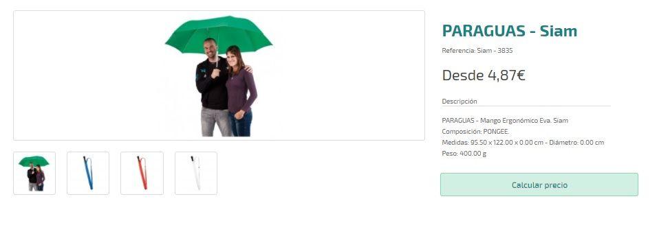 Paraguas grandes personalizados