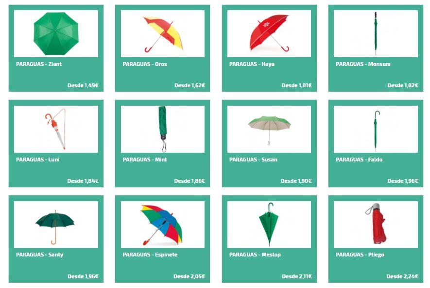 Paraguas personalizados para regalos publicitarios