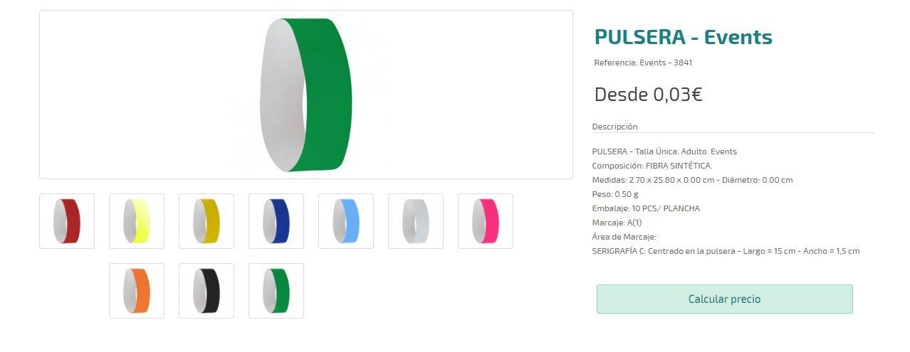 Pulseras personalizadas baratas para eventos
