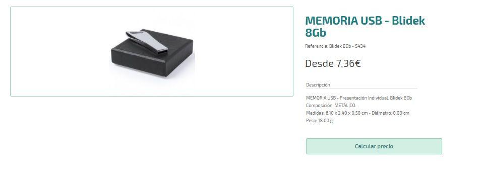 USB personalizados de lujo