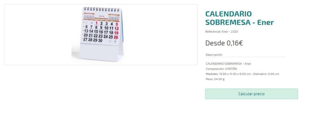 Calendarios personalizados baratos de 2018