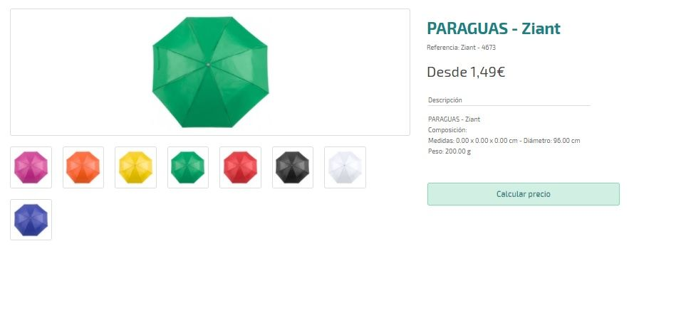 Paraguas personalizados baratos