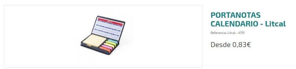 Portanotas calendario personalizado