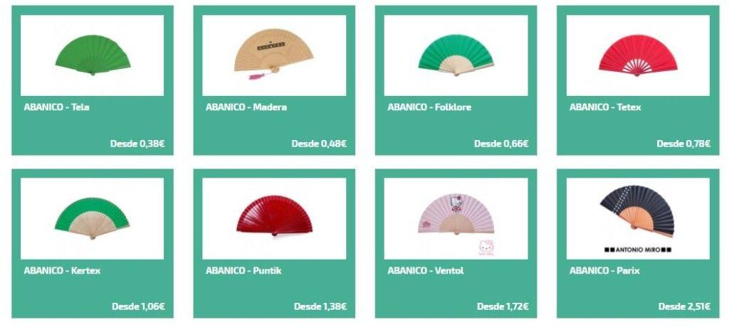 Abanicos personalizados para regalos de empresa