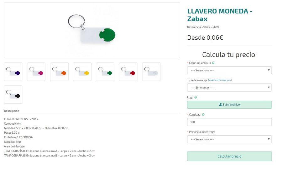 Llaveros monedas personalizados