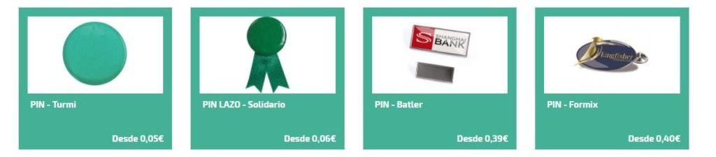 Pin personalizado como articulos de merchandising