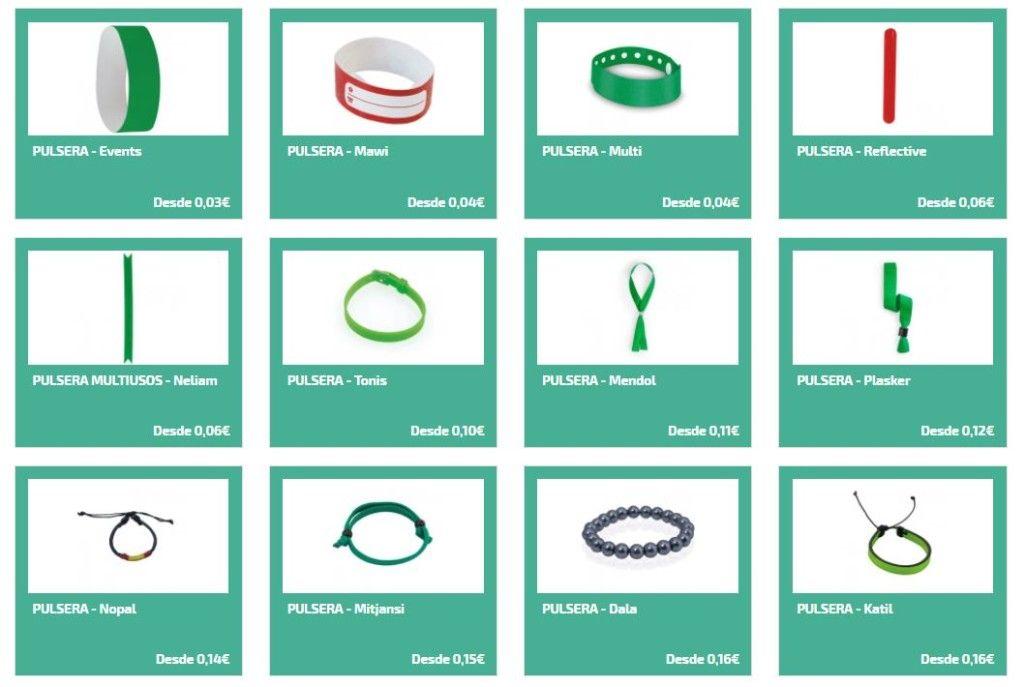 Pulseras personalizadas para regalos promocionales