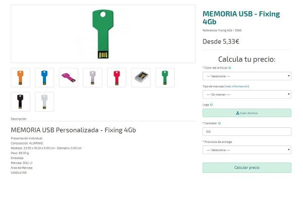 USB personalizados baratos modelo Fixing