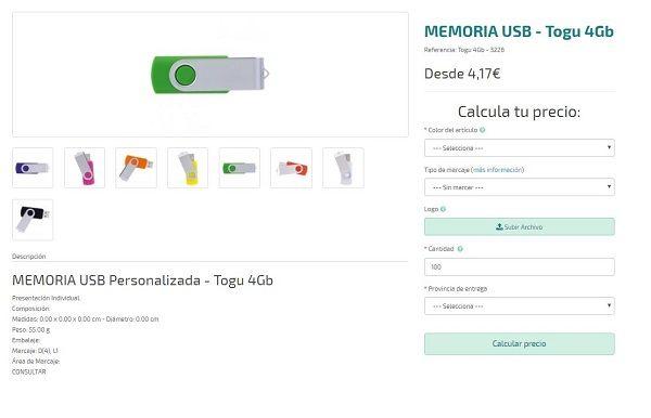 USB personalizado modelo Togu