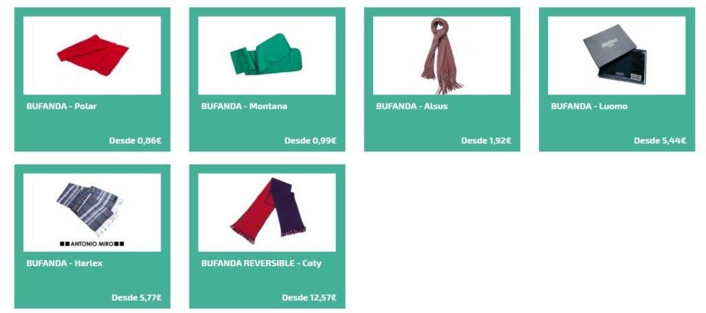 Bufandas personalizadas para regalos promocionales