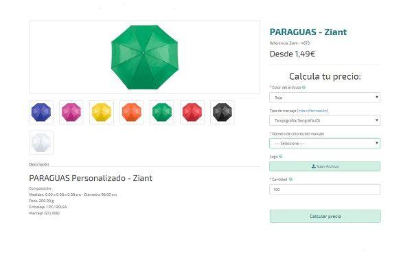 Paraguas personalizados baratos Zian