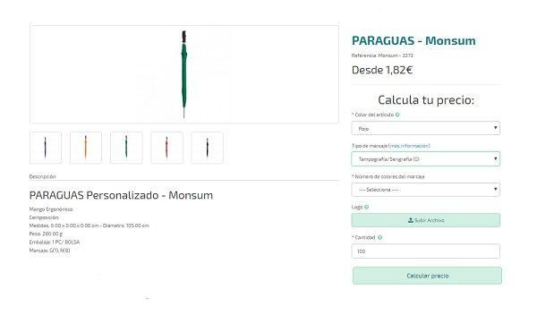 Paraguas personalizados baratos Monsum