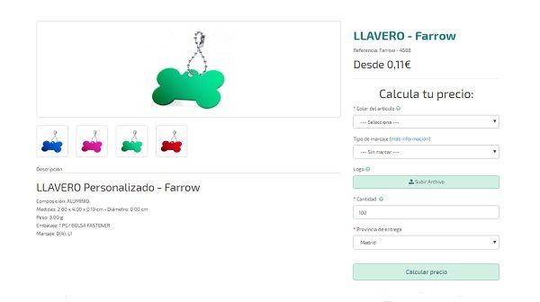 llaveros personalizados baratos farrow