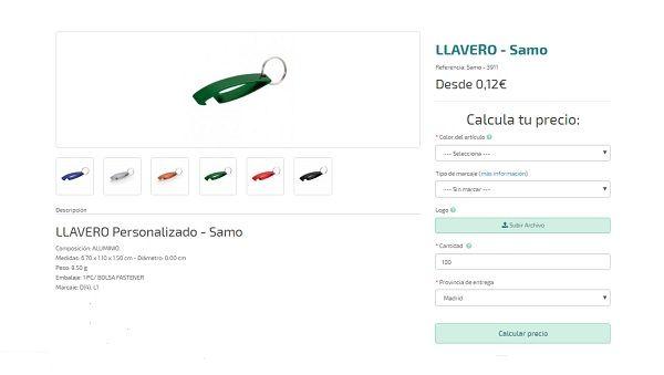 llaveros personalizados baratos Samo