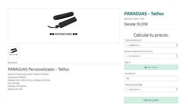 paraguas personalizados de calidad telfox