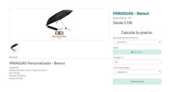 paraguas personalizados de lujo bemut