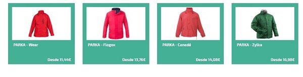 parkas personalizadas para el frio - abrigos personalizados