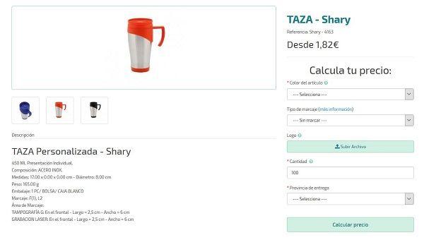 tazas de acero personalizadas baratas shary