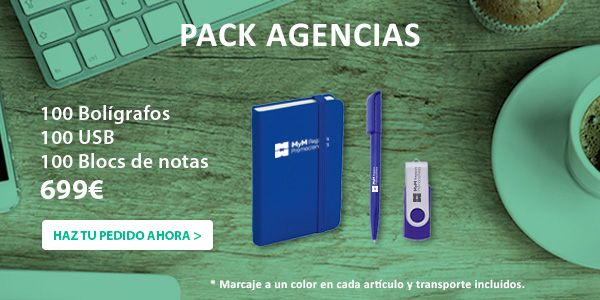 Oferta pack Regalos Publicitarios para Agencias