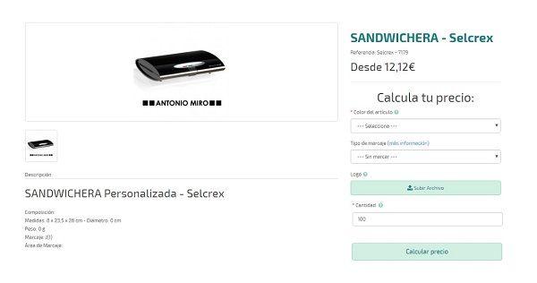 sandwicheras personalizadas