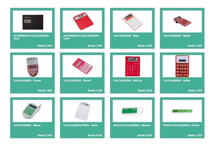 calculadoras personalizadas para la oficina