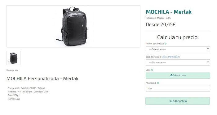 mochilas personalizadas premium modelo merlak