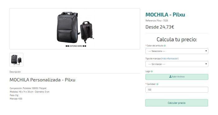 mochilas personalizadas premium pilxu