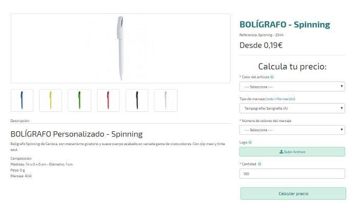 bolígrafos personalizados para regalos publicitarios