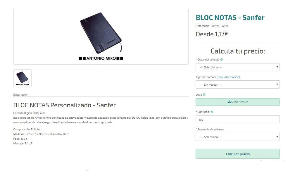 bloc notas personalizados