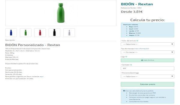 Bidones personalizados modelo Rextan