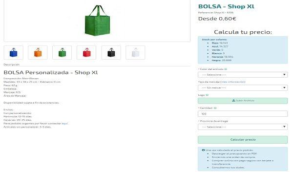 Bolsas modelo shop XL