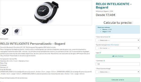 Relojes inteligentes personalizados Bogard