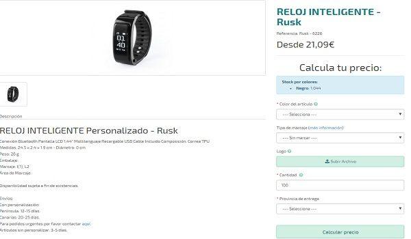 Relojes personaliados modelo Rusk