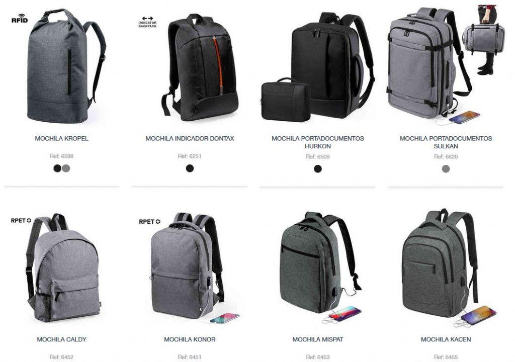 mochilas personalizadas en el catalogo de 2020