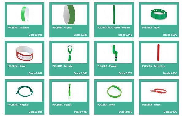 Tipos de pulseras publicitarias
