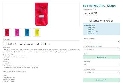 Set de manicura personalizado modelo Silton