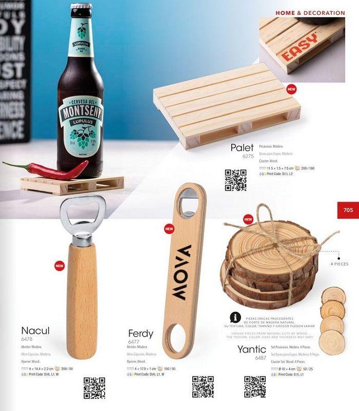 Abridores de madera personalizados